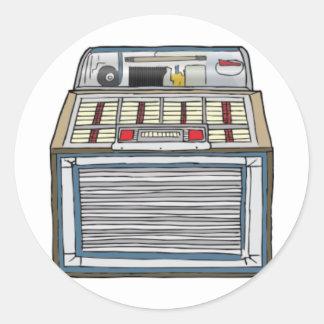 Vintage Jukebox Classic Round Sticker