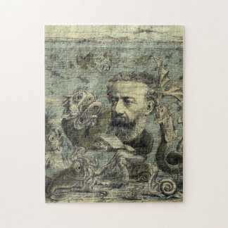 Vintage Jules Verne Periodical Cover Jigsaw Puzzle