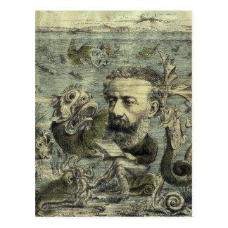 Vintage Jules Verne Periodical Cover Postcard