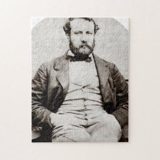 Vintage Jules Verne Portrait Photograph Jigsaw Puzzle