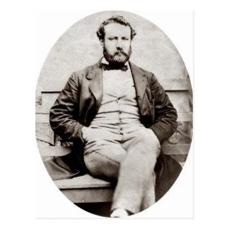 Vintage Jules Verne Portrait Photograph Postcard