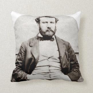 Vintage Jules Verne Portrait Photograph Throw Pillow