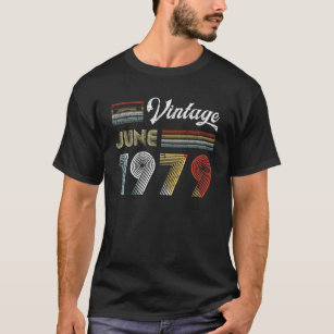 7b76f81a3 Vintage June 1979 Cassette Tape 40th Birthday T-Shirt