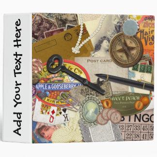 "Vintage Junk Drawer - 2"" Binder- Personalize! Vinyl Binder"