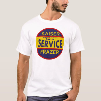 Vintage Kaiser Frazer service sign red/blue T-Shirt