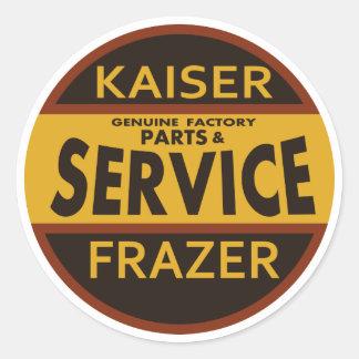 Vintage Kaiser Frazer service sign Round Sticker