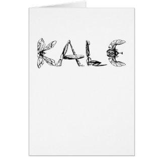 Vintage Kale University Funny Vegan Card