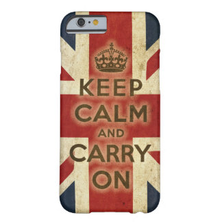 Vintage Keep Calm And Carry On Barely There iPhone 6 Case