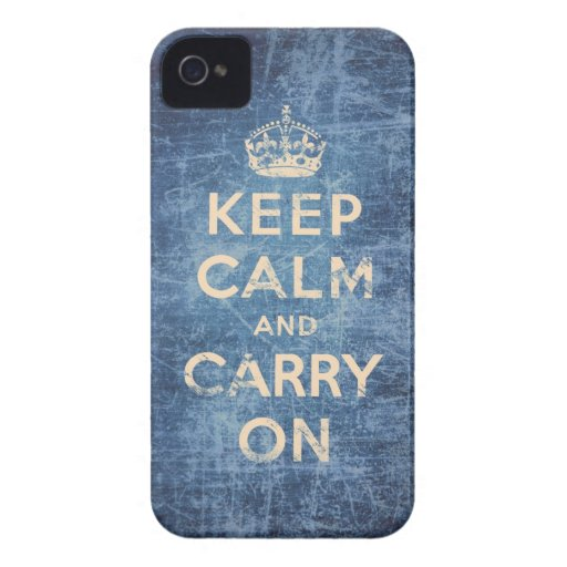 Vintage keep calm and carry on Case-Mate blackberry case