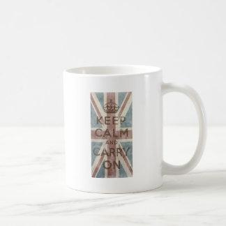 Vintage Keep Calm And Carry On Coffee Mug