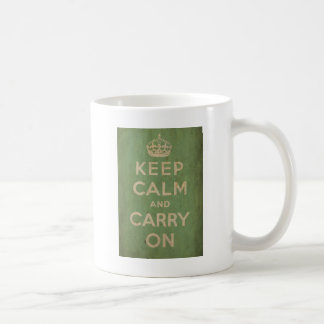 Vintage Keep Calm And Carry On Mug