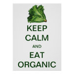 Vintage Keep Calm and Eat Organic Lettuce Print