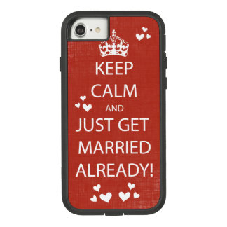 Vintage KEEP CALM  GET MARRIED Case-Mate Tough Extreme iPhone 8/7 Case