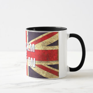 Vintage KEEP CALM  UK Flag GIFTS Mug