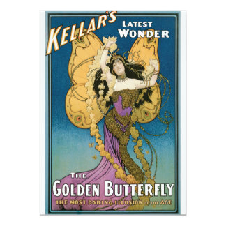 Vintage Kellar's The Golden Butterfly Card