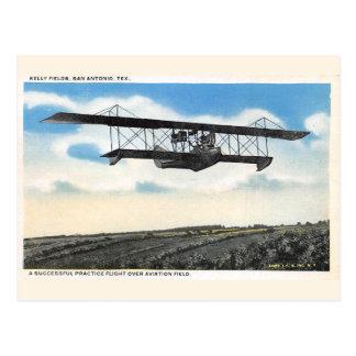 Vintage Kelly Fields Aviation Field Airplane Test Postcard