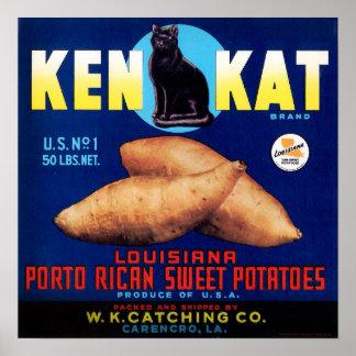 Vintage Ken Kat Porto Rican Sweet Potatoes Poster