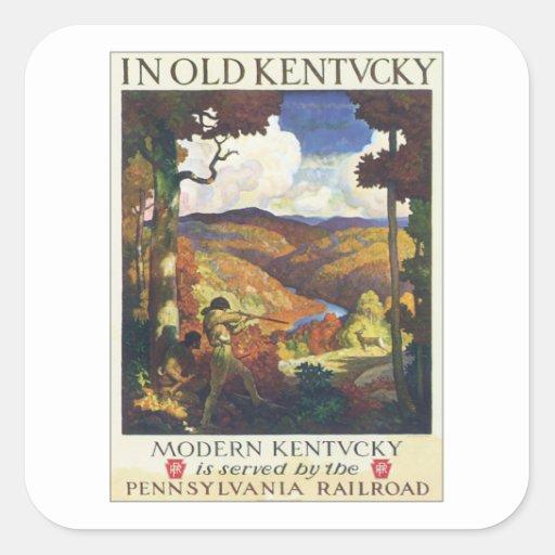 Vintage Kentucky Pennsylvania Railroad Square Sticker