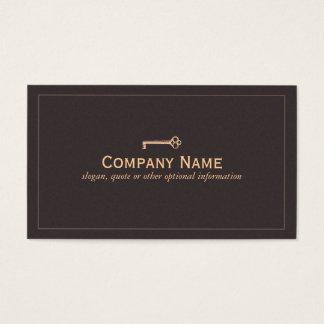 Vintage Key Business Card