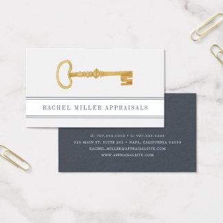 Vintage Key   Real Estate Appraiser Business Card