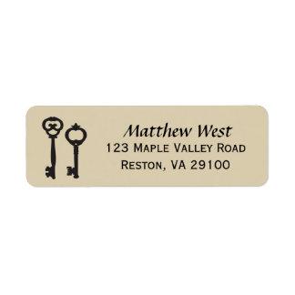 Vintage Keys New Home Address Label