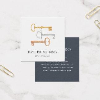 Vintage Keys Square Business Card