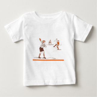 Vintage Kids Boys Baseball Game Baby T-Shirt