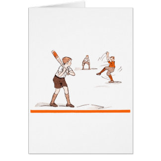 Vintage Kids Boys Baseball Game Card