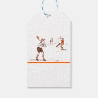 Vintage Kids Boys Baseball Game Gift Tags