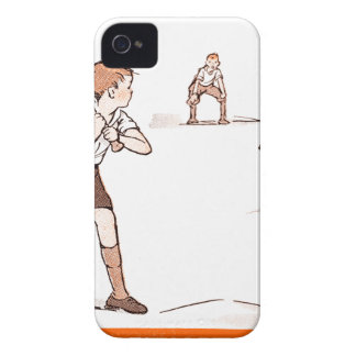 Vintage Kids Boys Baseball Game iPhone 4 Covers