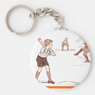 Vintage Kids Boys Baseball Game Keychain