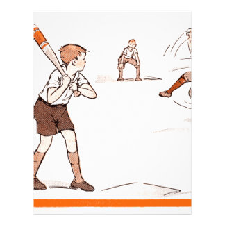 Vintage Kids Boys Baseball Game Letterhead