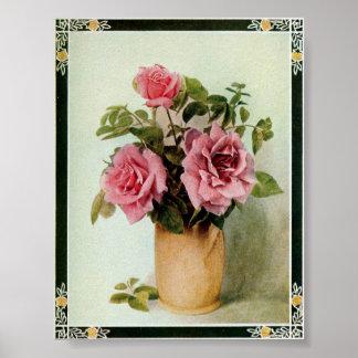 Vintage Killarney Rose by Frederick Martin Poster