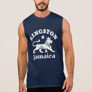 Vintage Kingston Jamaica Rastafari Lion Sleeveless Shirt