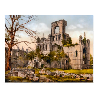 Vintage Kirkstall Abbey Yorkshire England Postcard