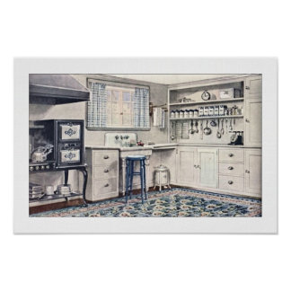 Vintage Kitchen 1921 Poster