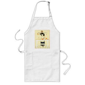 Vintage Kitchen Charm Long Apron