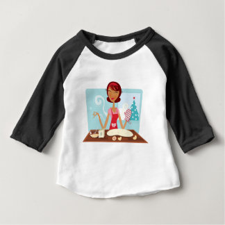 VINTAGE KITCHEN GIRL MOM BABY T-Shirt