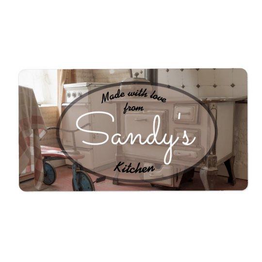 Vintage Kitchen Label
