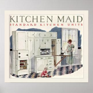 Vintage Kitchen Maid Kitchen 1924 Poster