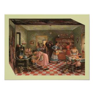 Vintage Kitchen Scene ~ Family Reunion Invitation