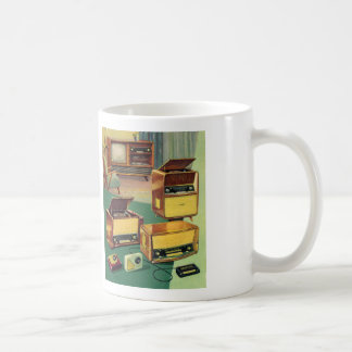 Vintage Kitsch 50s High Fidelity Stereo TV Sets Mugs