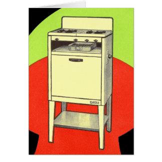 Vintage Kitsch Appliances Gas Burner Stove Oven Greeting Card
