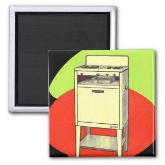 Vintage Kitsch Appliances Gas Burner Stove Oven Square Magnet