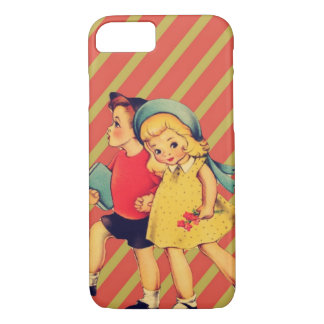 vintage kitsch back to school retro kids iPhone 8/7 case