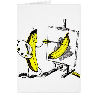 Vintage Kitsch Bananas The Banana Artist Card