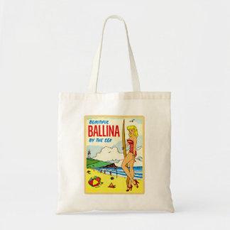 Vintage Kitsch Beautiful Ballina Bikini Decal Tote Bags