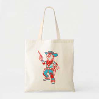 Vintage Kitsch Cartoon Cowboy Kid Boy Bags
