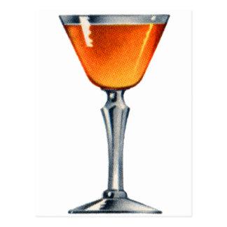 Vintage Kitsch Cocktail Booze Orange Blossom Postcard