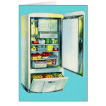 Vintage Kitsch Fridge Refridgerator Greeting Card